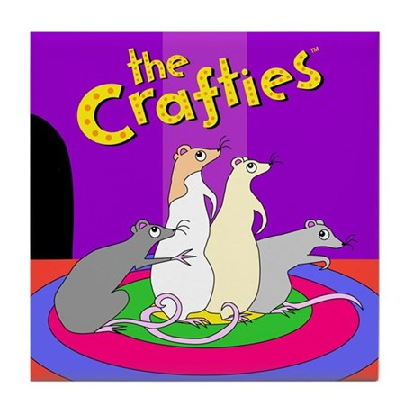 """The Crafties"" Tile/Coaster"