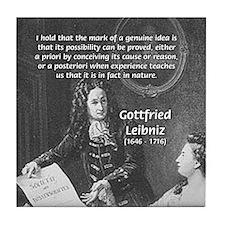 Leibniz Origins of Calculus Tile Coaster