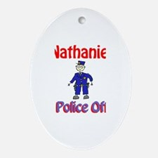 Nathaniel - Police Officer Oval Ornament