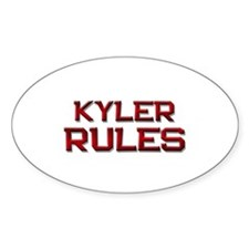 kyler rules Oval Decal