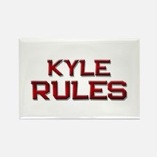 kyle rules Rectangle Magnet