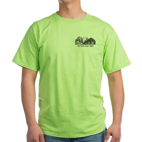 Red Rocks Classic Climbs Green T-Shirt