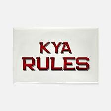 kya rules Rectangle Magnet