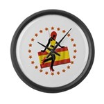 Sexy Girl Spain 1 Large Wall Clock