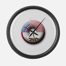 USA - California Flag Donut Large Wall Clock