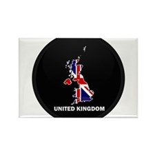 Flag Map of United Kingdom Rectangle Magnet