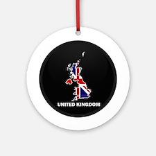 Flag Map of United Kingdom Ornament (Round)
