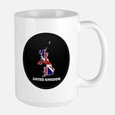 Flag Map of United Kingdom Large Mug