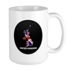 Flag Map of United Kingdom Mug