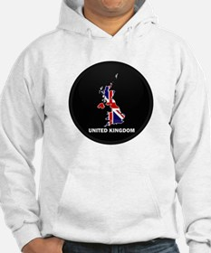 Flag Map of United Kingdom Hoodie
