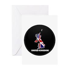 Flag Map of United Kingdom Greeting Card