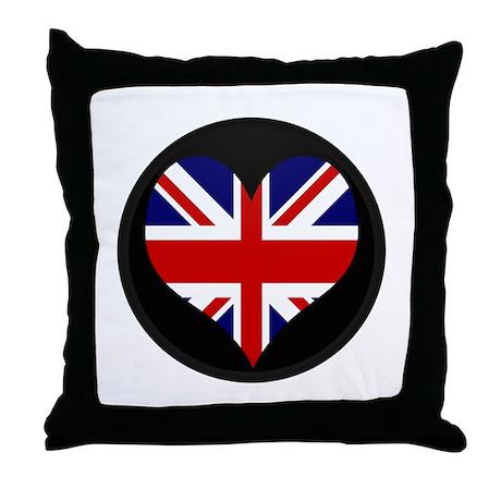 I love United Kingdom Flag Throw Pillow