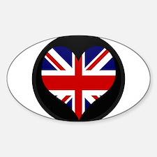 I love United Kingdom Flag Oval Decal
