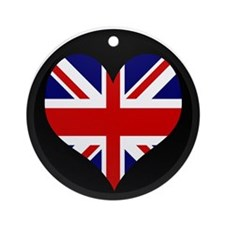 I love United Kingdom Flag Ornament (Round)