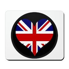 I love United Kingdom Flag Mousepad