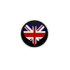 I love United Kingdom Flag Mini Button