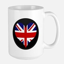 I love United Kingdom Flag Large Mug