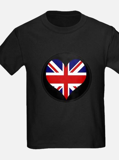 I love United Kingdom Flag T