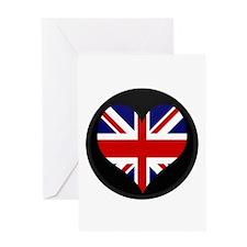 I love United Kingdom Flag Greeting Card