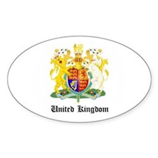Ukranian Coat of Arms Seal Oval Decal