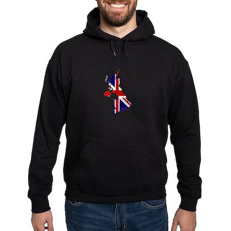 United Kingdom Flag Map Hoodie (dark)