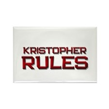 kristopher rules Rectangle Magnet