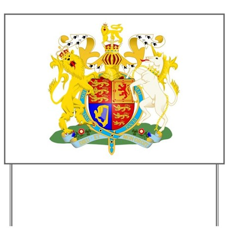 United Kingdom Coat of Arm Yard Sign