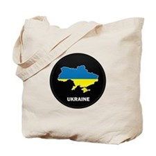 Flag Map of ukraine Tote Bag