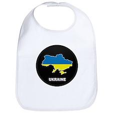 Flag Map of ukraine Bib