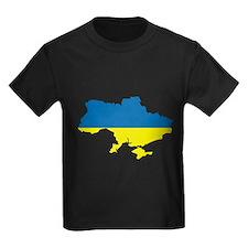 ukraine Flag Map T