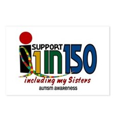 I Support 1 In 150 & My Sisters Postcards (Package