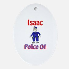 Isaac - Police Officer Oval Ornament
