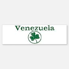 Venezuela shamrock Bumper Bumper Bumper Sticker
