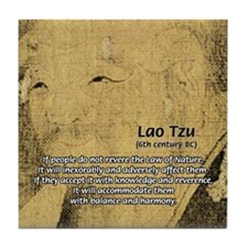 Law of Nature: Lao Tzu Tile Coaster