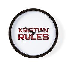 kristian rules Wall Clock