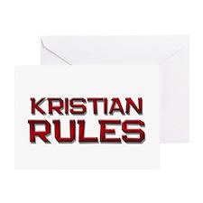 kristian rules Greeting Card