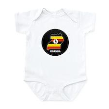 Flag Map of uganda Infant Bodysuit