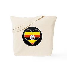 I love uganda Flag Tote Bag