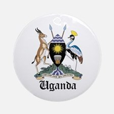 Ugandan Coat of Arms Seal Ornament (Round)