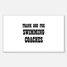 THANK GOD FOR SWIMMING COACHE Sticker (Rectangular