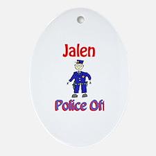 Jalen - Police Officer Oval Ornament