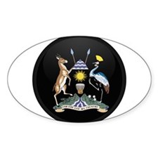 Coat of Arms of uganda Oval Decal