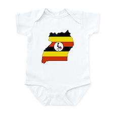 uganda Flag Map Infant Bodysuit
