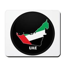 Flag Map of UAE Mousepad