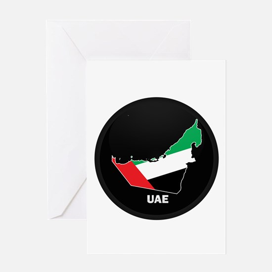 Flag Map of UAE Greeting Card