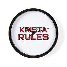 krista rules Wall Clock