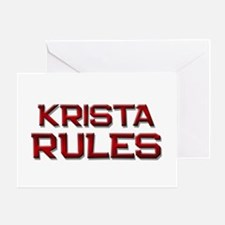krista rules Greeting Card