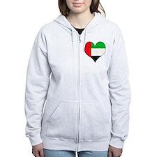 I Love UAE Zip Hoodie