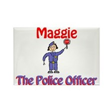Maggie - Police Officer Rectangle Magnet