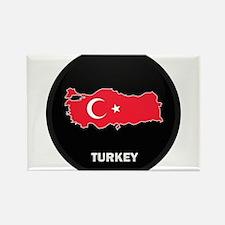 Flag Map of Turkey Rectangle Magnet